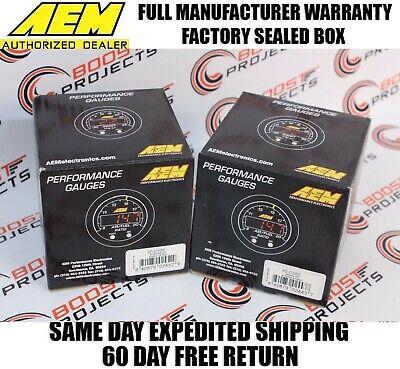 AEM X-Series AFR Wideband Sensor Controller Gauge & Boost Pressure Display Gauge