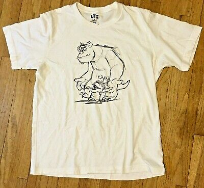 UT Disney Pixar Monsters Inc. T-shirt Size Medium White Scully Boo