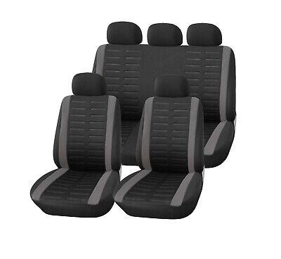 Auto Sitzbezüge Set für Vorne + Hinten Kfz Schon-bezug Sitzbezug schwarz+grau