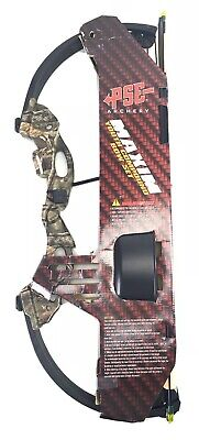 Camo PSE Archery Maxim Youth Compound Bow Set New Draw up 22lbs Axle to Axle 27