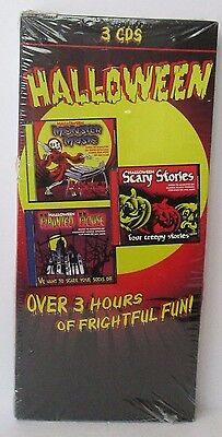 3 HALLOWEEN CD'S Haunted House Scary Stories Monster Music 3 Hours Of Fun  - Fun Halloween Music