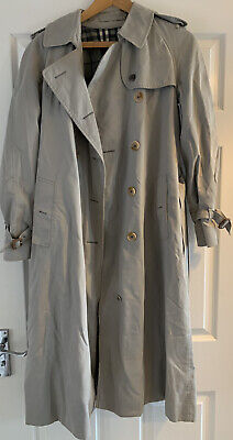 Burberry Burberrys Mac Trench Coat Size 10 Vintage