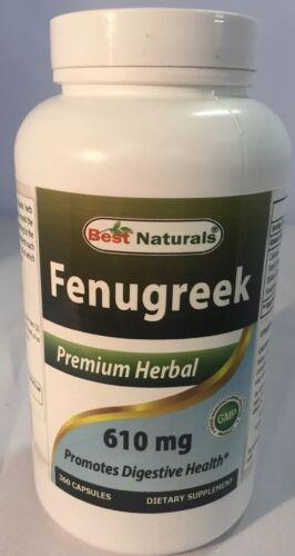 Best Naturals Fenugreek Seed 610 mg 360 Capsules - Fenugreek
