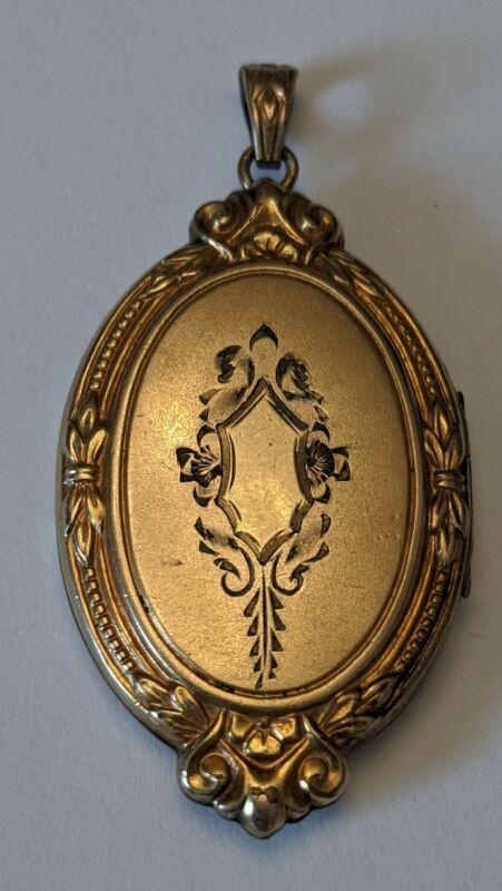 Antique Gold Filled Locket Pendant
