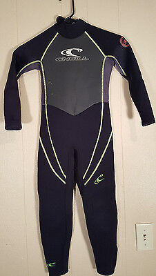 O'Neill 3/2 Hammer Youth Kids Wetsuit Size 6 Full Suit
