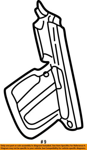 Chrysler Oem Radiator Support Air Baffle Duct Deflector Left
