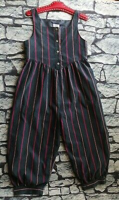 Vintage Laura Ashley corduroy playsuit romper jumpsuit blue stripe S