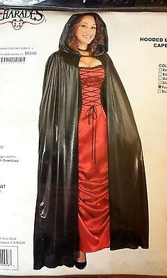 HOODED LAME FULL LENGTH CAPE HALLOWEEN ADULT WOMENS COSTUME FUCHSIA, MSRP $50 - Full Length Halloween Costumes