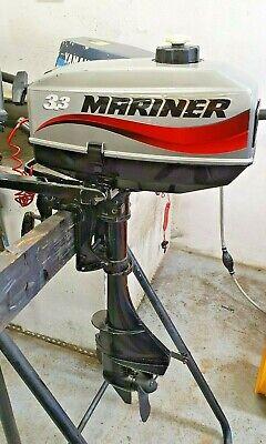 Mariner 3.3hp Outboard Motor / Boat Engine. Short Shaft 2 Stroke.