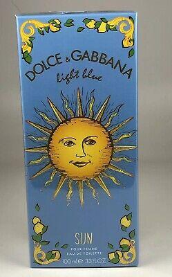 Woman In Light (Woman Dolce & Gabbana Light Blue Sun EDT 3.4 / 3.3 oz / 100 ml New In Box)