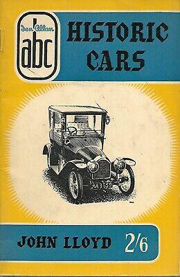 Ian Allan - Historic Cars - John Lloyd - 1956 - UNMARKED