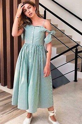 Isa arfen off shoulder  dress size 16 green/white bn