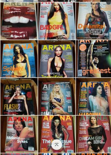 Arena Magazine LOT (1996-2001) YOU PICK. Mens Fashion UK. Every issue collection