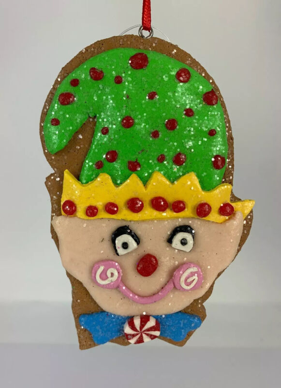 "NWT Raz 4"" Elf Cookie Christmas Ornament, Candyland"
