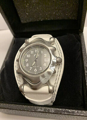 Oakley Saddleback White Leather Watch Swiss Movement Sapphire Crystal Men/Women