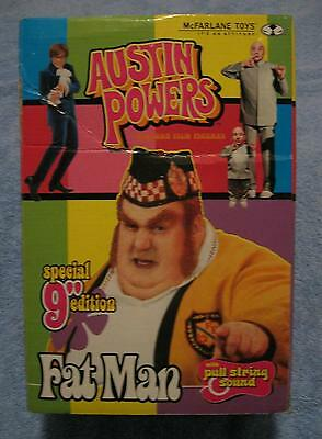 RARE 9 INCH DELUXE TALKING FATMAN FAT MAN AUSTIN POWERS FIGURE SOUND CHIP A