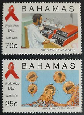 162. BAHAMAS 1995 SET/2 STAMP  WORLD  AIDS DAY  . MNH