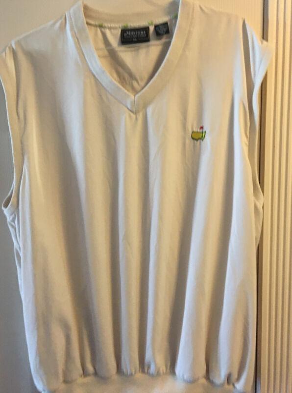 Masters Collection Augusta Golf Mens XXL Vest w/Logo Beige