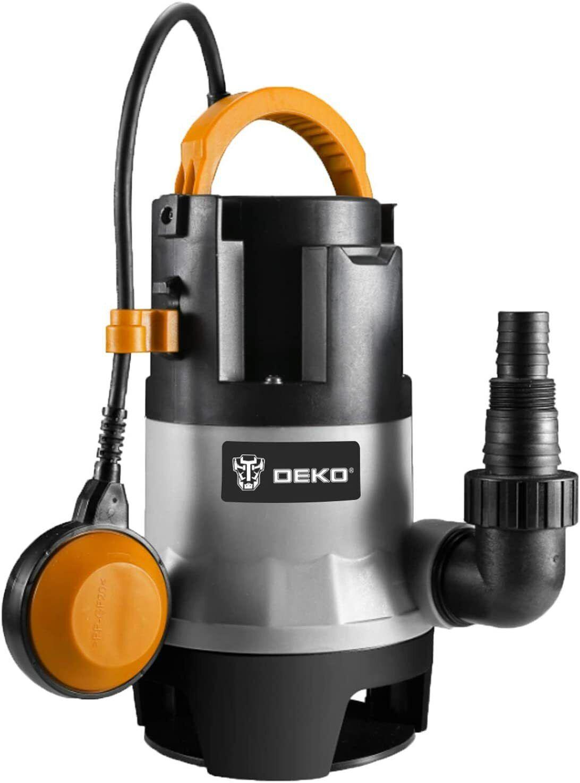DEKO 1/2HP 400W Sump Pump 1981GPH Submersible Pump Clean/Dir