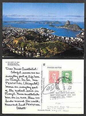 Old Advertising Postcard - Abbott Laboratories - Pentothal - Brazil