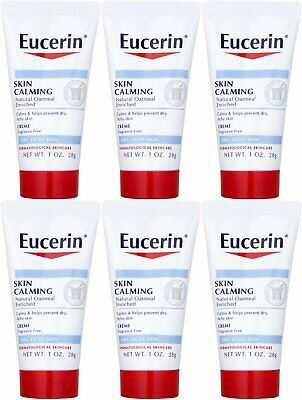 Eucerin Skin Calming Daily Moisturizing Creme, 1 Ounce (Pack of 6)