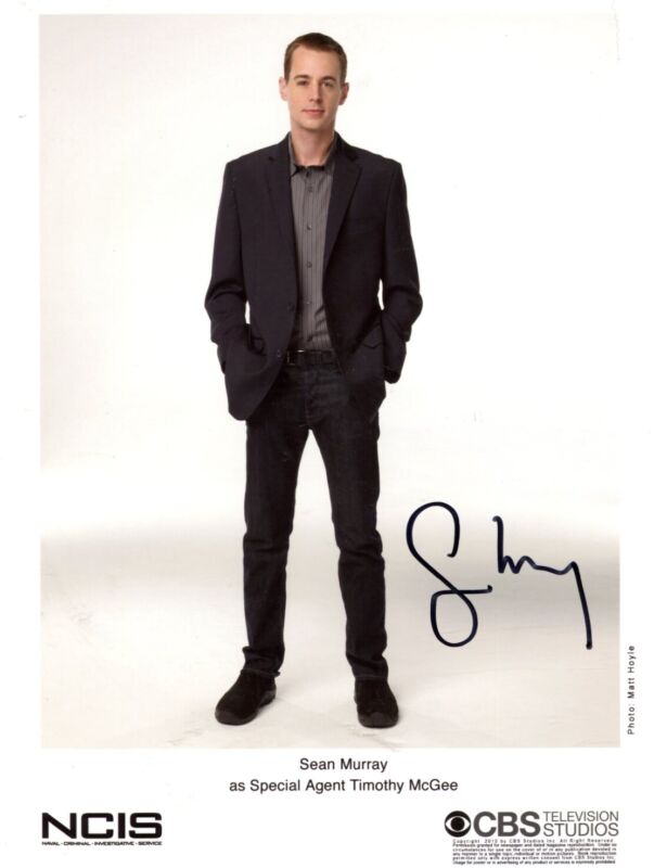 "ACTOR Sean Murray ""NCIS"" autograph, signed promotion photo"