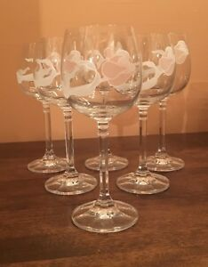 Set of 6 - Crystal Wine Glasses