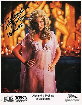 OFFICIAL WEBSITE Alexandra Tydings Aphrodite XENA Warrior 8x10 LITHO AUTOGRAPHED