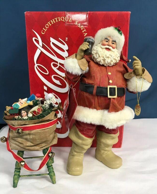 """Clothtique Possible Dreams/1997 Coca Cola Santa """"Hospitality""""  //EUC//"""