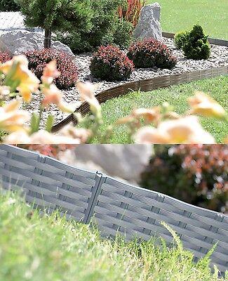 Rasenkante Gartenpalisade Beeteinfassung Beetumrandung 3,9m 7,8m Gartenzaun 18cm