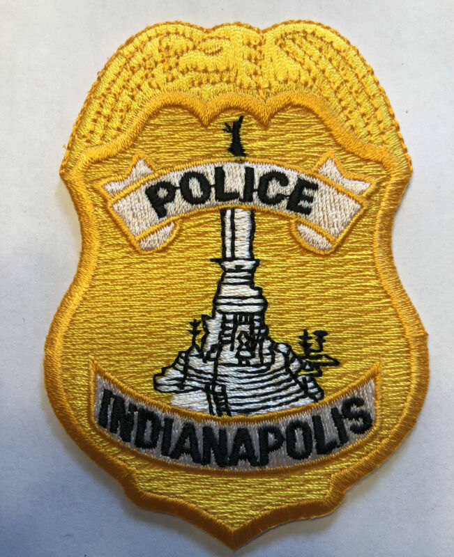 Indianapolis Indiana Police Patch ~ Badge Shaped