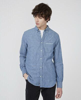 Officine Générale Japanese Chambray Selvedge Button Down Shirt - Large