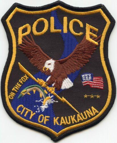 KAUKAUNA WISCONSIN WI Jumping Fish POLICE PATCH