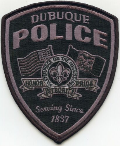 DUBUQUE IOWA IA Subdued POLICE PATCH