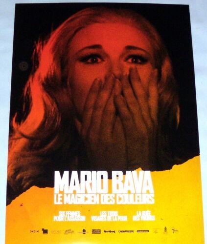 MARiO BAVA 2019 RETROSPECTiVE Italy Giallo Horror  LOT OF 4 SMALL french POSTERS