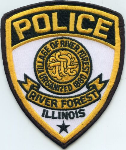 RIVER FOREST ILLINOIS IL white background POLICE PATCH