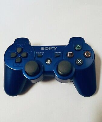 Sony Ps3 Blue Wireless Sixaxis Dual Shock 3 Game Controller Playstation Tested