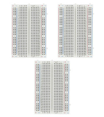 3 400 Pin Breadboard Electronic Solderless Prototype Pcb Board Kit For Arduino