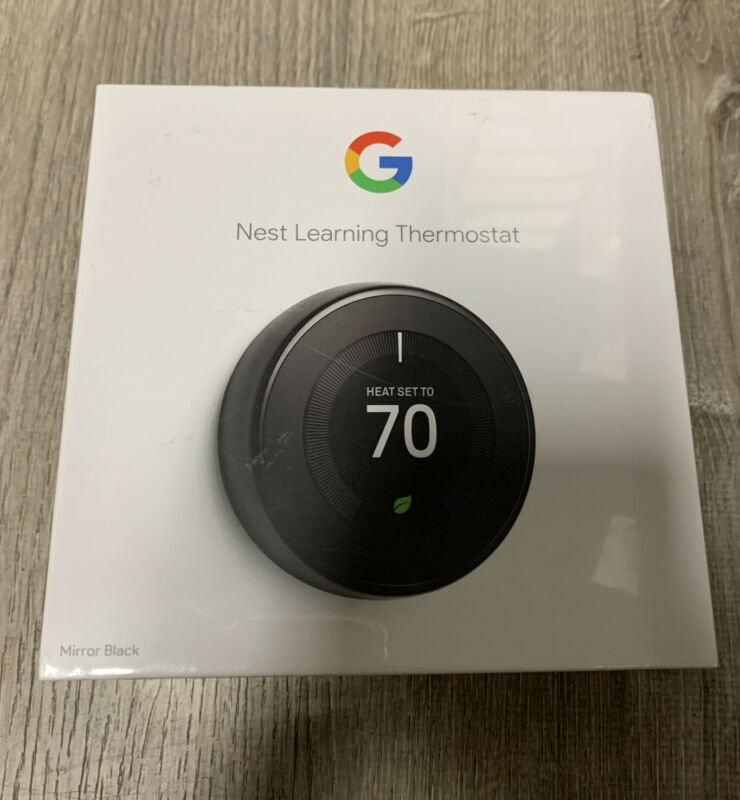 Brand New Sealed Nest T3018US 3rd Gen Programmable Thermostat  Mirror Black