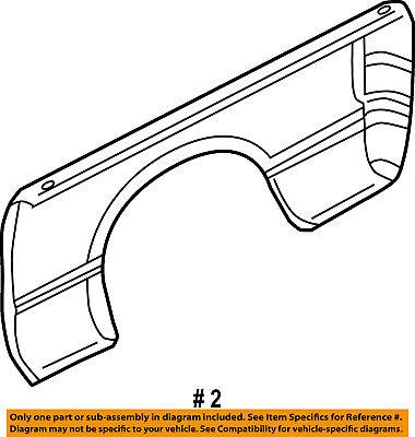 Dodge CHRYSLER OEM 02-08 Ram 1500 Rear Fender Quarter Panel-Bed Right 55275522AC