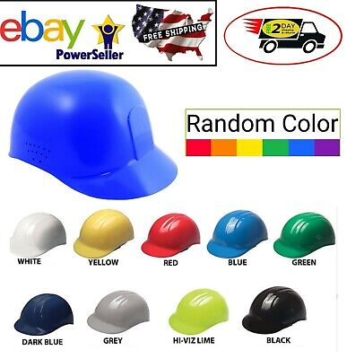 Safety Bump Cap Lightweight Plastic With 4 Point Suspension Random Color Helmet