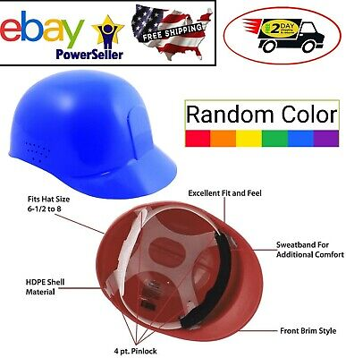Safety Bump Cap With 4 Point Glide Lock Suspension Lightweight Random Color