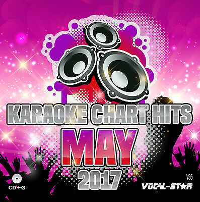 VOCAL-STAR KARAOKE CDG DISC - MAY 2017 CHART HITS VS5- 18 CD+G SONGS