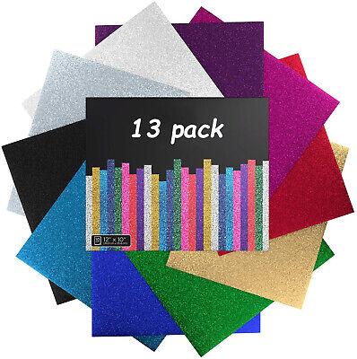 Htvront Glitter Heat Transfer Vinyl Sheets Htv 12x10 For Cricut Silhouette