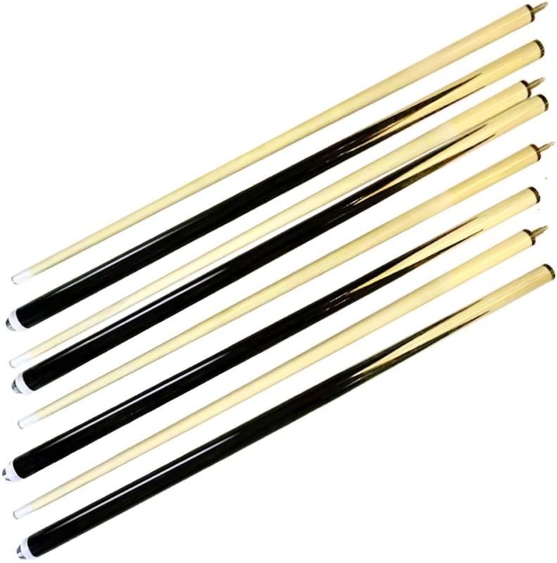 Set Of 4 Billiard House Pool Cue Sticks Bar Table Hardwood W