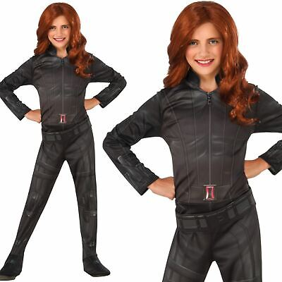 Girls Official Black Widow Avengers Endgame Fancy Dress Superhero Costume