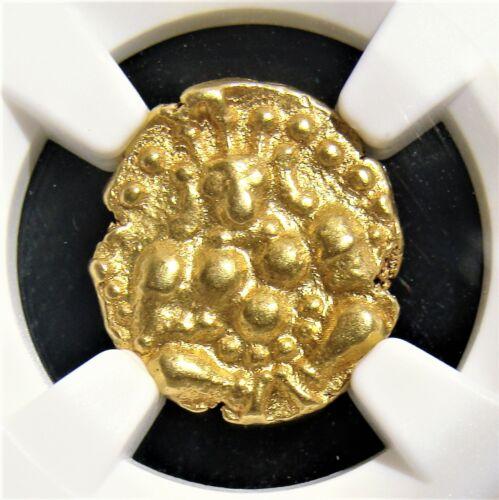India Nayakas Chitradurga, Madakeri Nayaka 1565-1779 Gold Durgi Pagoda NGC AU58.