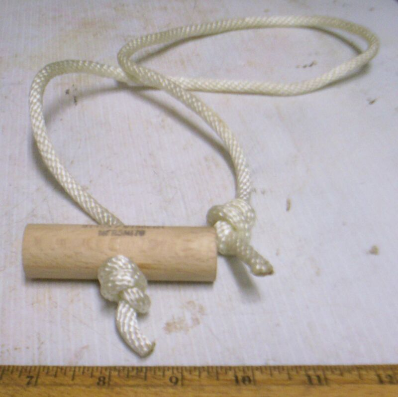 Nylon Cord - Engine Starter Pull Rope with Wood Handle