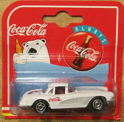 Coke Coca Cola Majorette 4 car set 57Chevy 2 58 Vettes 57 T-Bird