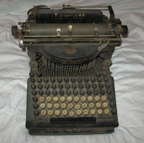 Antique Typewriter JEWETT No 4 / #4 VERY RARE as found condition all original